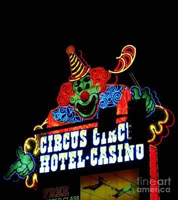 Circus Circus Sign Vegas Print by John Malone