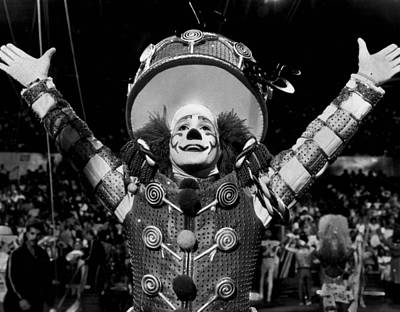 Circus Clown Introduces The Acts Print by Retro Images Archive