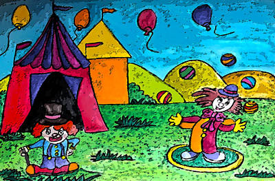 Circus Print by Monica Engeler