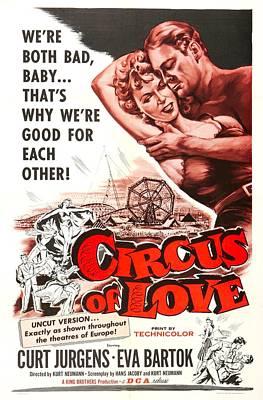 Circus Of Love, Aka Rummelplatz Der Print by Everett