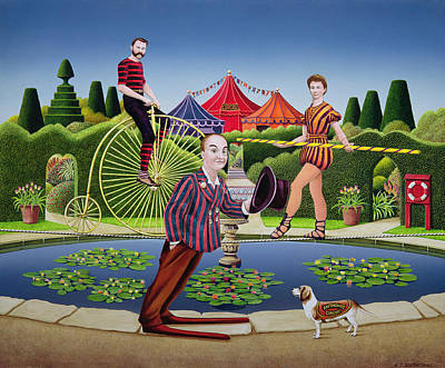 Penny Farthing Painting - Circus Performers by Anthony Southcombe