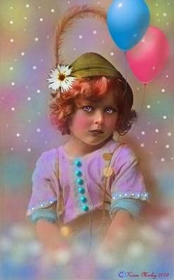 Flower Pink Fairy Child Digital Art - Circus Pixie by Karen Morley
