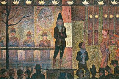 Trombone Painting - Circus Sideshow by Georges Seurat