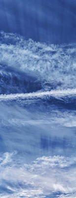 Cirrus Clouds And Contrails Print by Babak Tafreshi