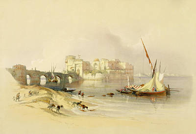Architectural Painting - Citadel Of Sidon by David Roberts
