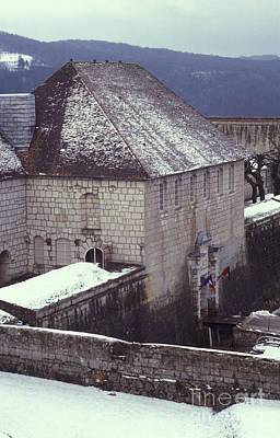 Besancon Photograph - Citadelle Gate Under Snow by Gregory Schultz