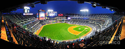 Citi Field And The New York Mets Print by Nishanth Gopinathan