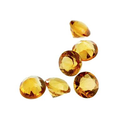 Citrine Photograph - Citrine Gemstones by Science Photo Library