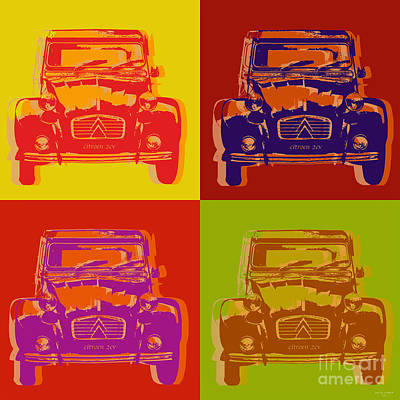 Citroen 2cv Print by Jean luc Comperat