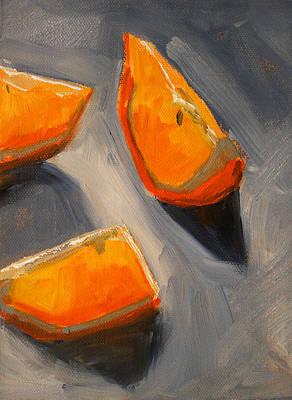 Tangerines Painting - Citrus Mix Up by Nancy Merkle
