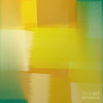 Digital Art - Citrus Motion Abstract Square by Andee Design