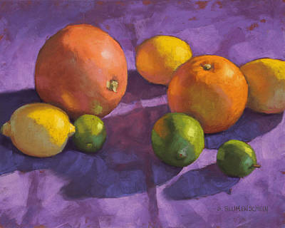Citrus On Purple Original by Sarah Blumenschein
