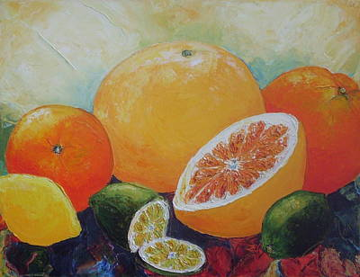 Citrus Splash Print by Paris Wyatt Llanso