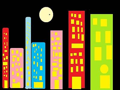 City 23 Print by Ronald Weatherford