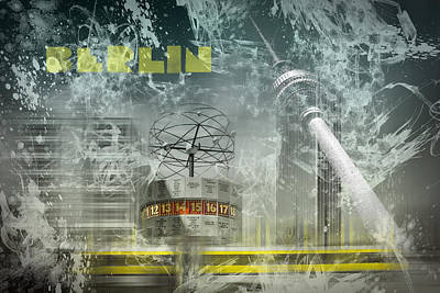 Abstract Movement Digital Art - City-art Berlin Alexanderplatz  by Melanie Viola
