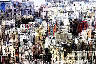 Digital Art - City Art Scenario  by Mary Clanahan