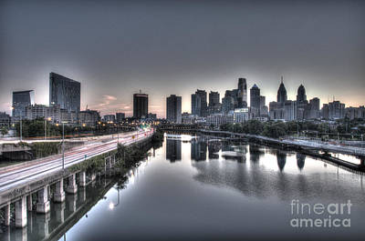 City At Dawn Print by Mark Ayzenberg
