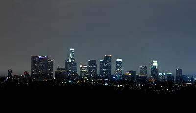 City At Night Print by Andrew Raby