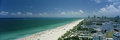 Atlantic Ocean Photograph - City At The Beachfront, South Beach by Panoramic Images