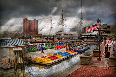 Mikesavad Photograph - City - Baltimore Md - Modern Maryland by Mike Savad