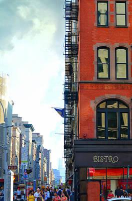 Brick Buildings Photograph - City Bistro by Laura Fasulo