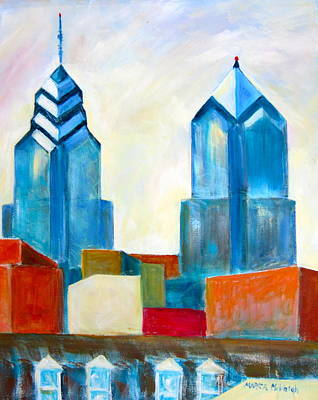 City Blocks Original by Marita McVeigh