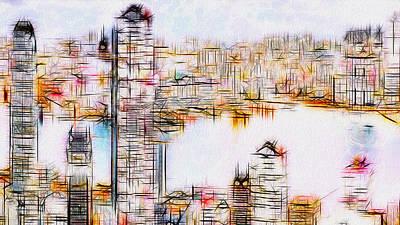 Painter Digital Art - City By The Bay by Jack Zulli
