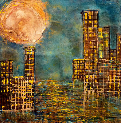 City By The Sea Of Love  Print by Giorgio Tuscani