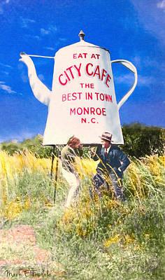 City Cafe - Nostalgic Monroe North Carolina Print by Mark E Tisdale
