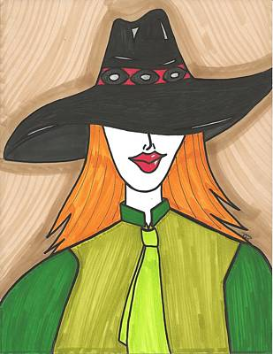 Cowgirl Mixed Media - City Cowgirl by Ray Ratzlaff