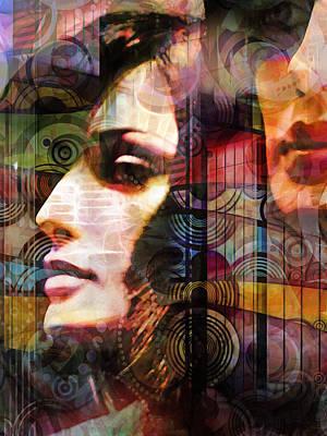 Girls Mixed Media - City Girls Color by Lutz Baar