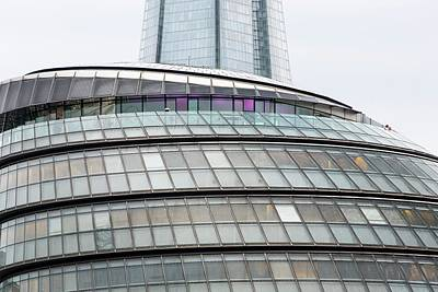 City Hall And The Shard At More London Print by Ashley Cooper
