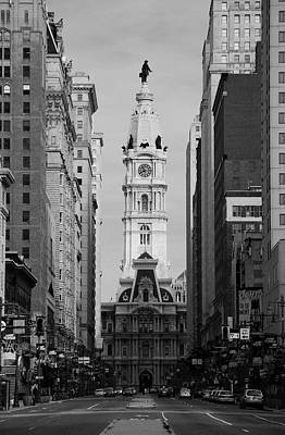 Philadelphia Photograph - City Hall B/w by Jennifer Ancker