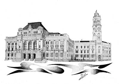 City Hall Oradea Print by Joker Gallery
