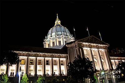 City Hall San Francisco At Night Print by Jim Fitzpatrick