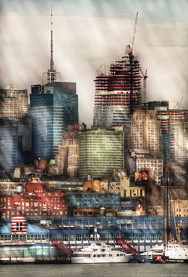 Mikesavad Photograph - City - Hoboken Nj - New York Skyscrapers by Mike Savad