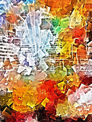 Colorful Abstract Digital Art - City Jam by Lutz Baar