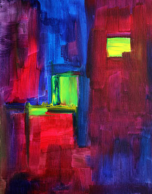 Gritty Cities Painting - City Life Abstract by Nancy Merkle