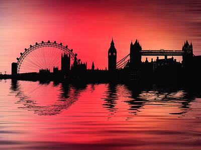 London Eye Digital Art - City Montage by Sharon Lisa Clarke