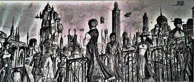 Drawing - City Of Babel  by George Harrison