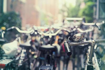 Handlebar Photograph - City Of Bikes by Jane Rix