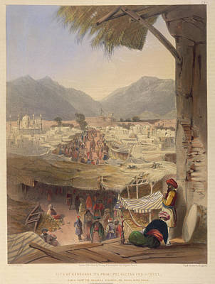 Lithographs Photograph - City Of Kandahar by British Library