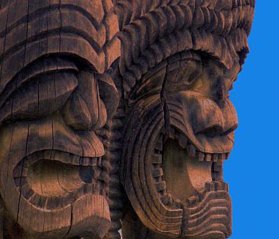 City Of Refuge Tiki Gods Print by Lori Seaman