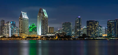 Long Exposure Photograph - City Of San Diego Skyline 2 by Larry Marshall