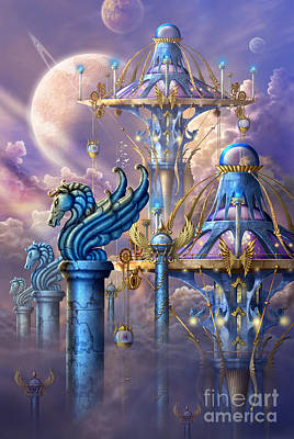 Astrological Digital Art - City Of Swords by Ciro Marchetti