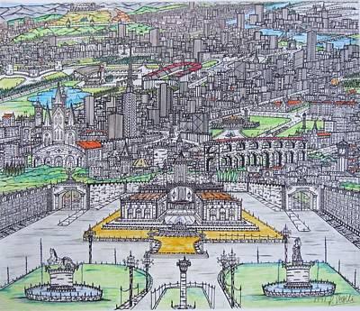 City Of Trianda Print by Panayiotis Vasili