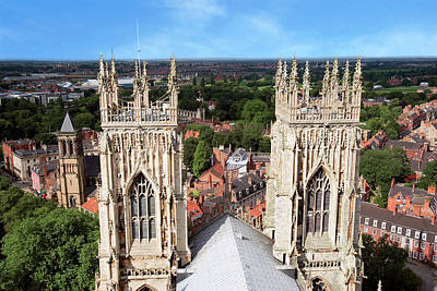 City Of York, York Minster, Cathedral Print by Miva Stock