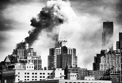 City On Fire Print by John Rizzuto