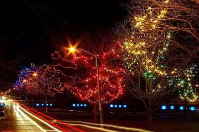 City Park Lights Print by Paul Wash