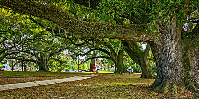 Walkway Digital Art - City Park Stroll 2 by Steve Harrington